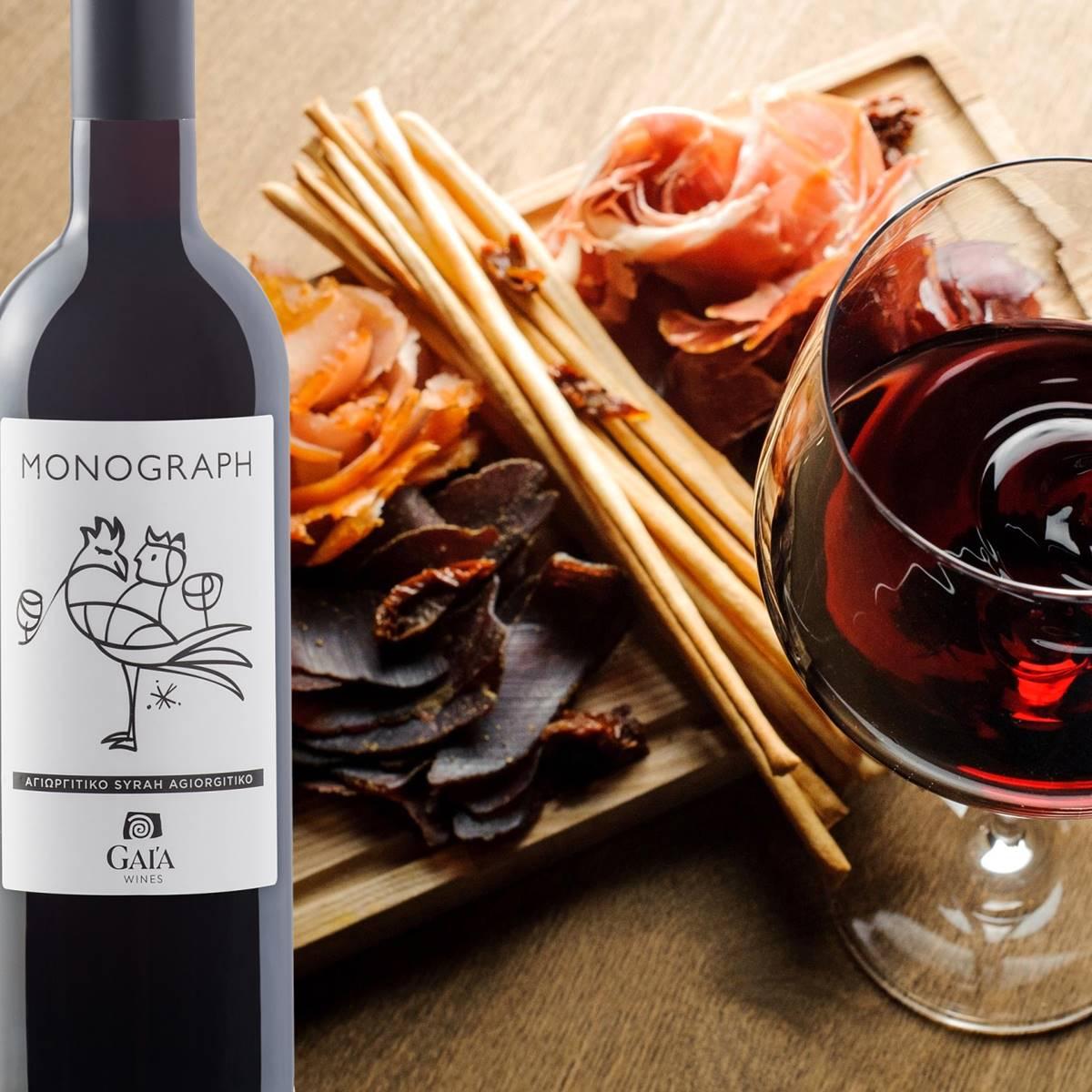 Wine Pairing Monograph Αγιωργίτικο Syrah, Κόκκινο - Gaia Wines