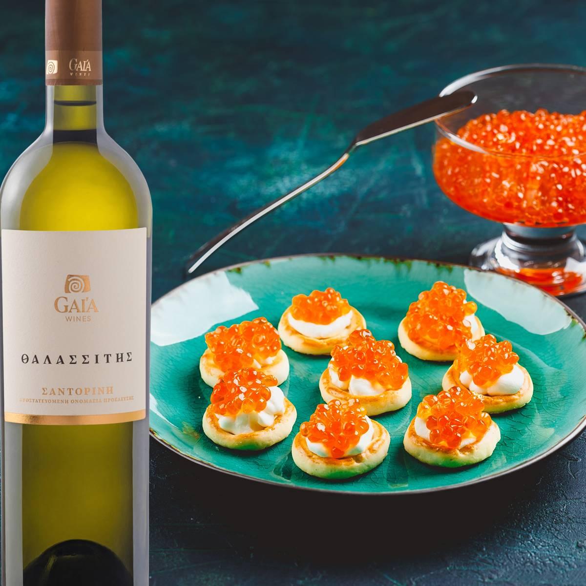 Wine Pairing ΘΑΛΑΣΣΙΤΗΣ, Λευκό - Gaia Wines